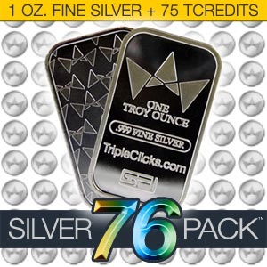Silver76Pack --Silver Bar (1 ounce)